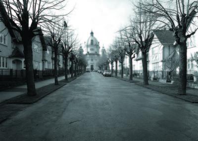 Blick zur Margaretenkirche in Berndorf