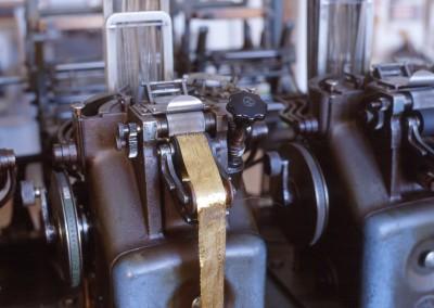 Bandwebmaschine der Leonischen Werke, um 1925
