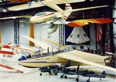 Segelflugzeuge und Flugzeugmodelle