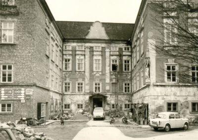 Das Schloss während der Renovierung