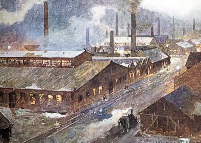 Berndorf, Fabrik um 1905