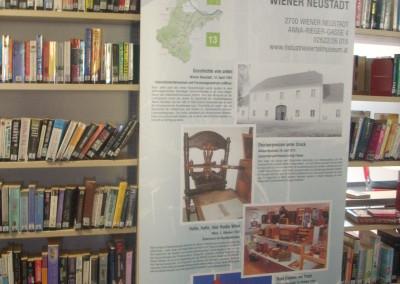 Wanderausstellung in der neuen  Stadtbücherei Wr. Neustadt