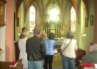 Wir waren ganz verzückt von der kleinen Pfarrkirche in Waldegg